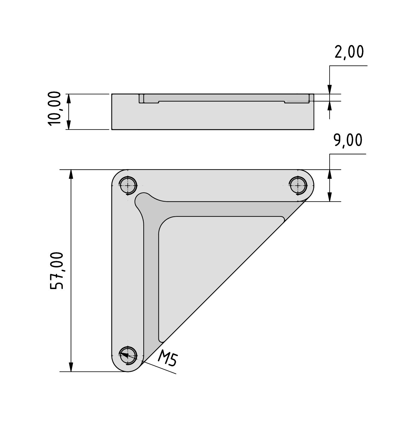 Zeichnung Tastplatte