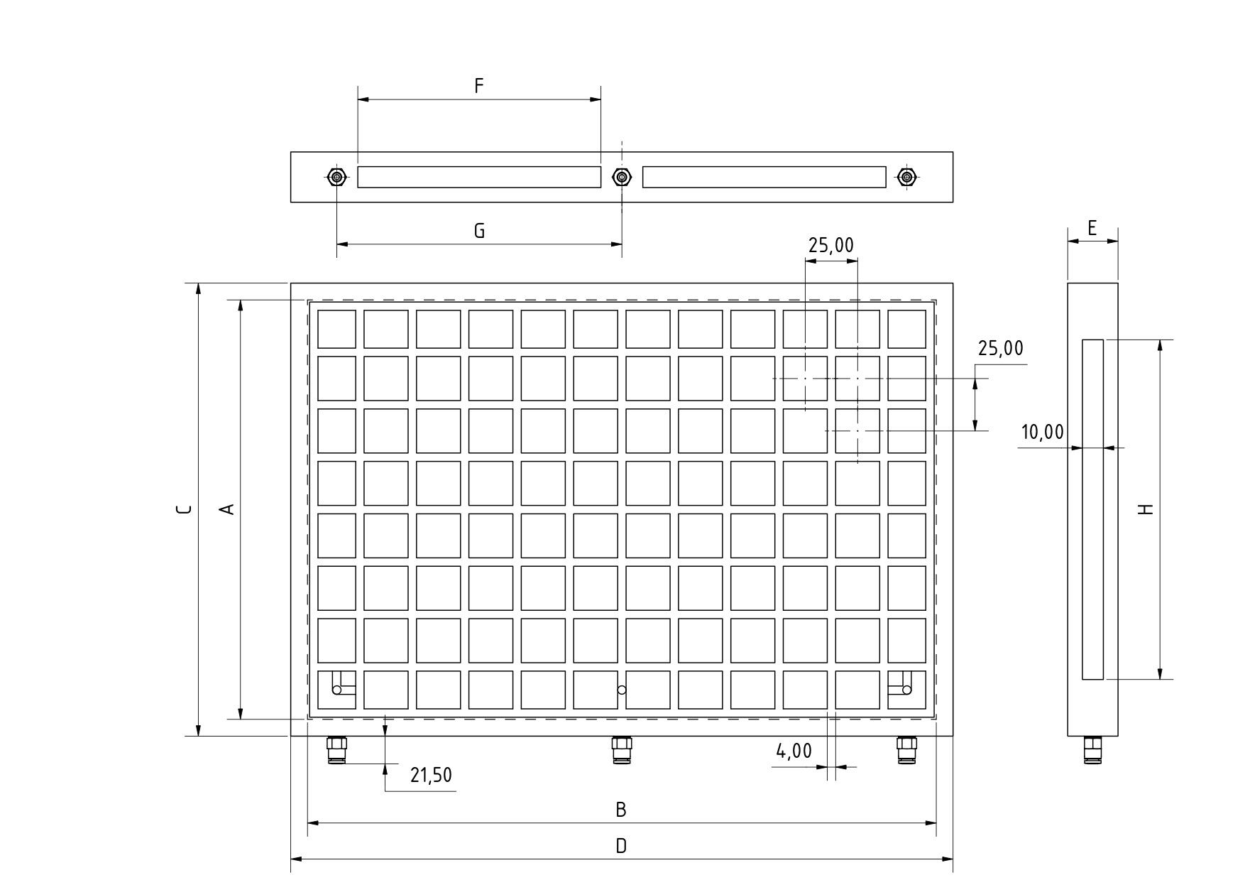 Vakuumspannplatte mit 200x300